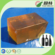 Red Wine Bottle Label Hot Melt Glue Adhesive Tape , Yellowish and transparent block Hot Melt Glue Adhesive like Henkel
