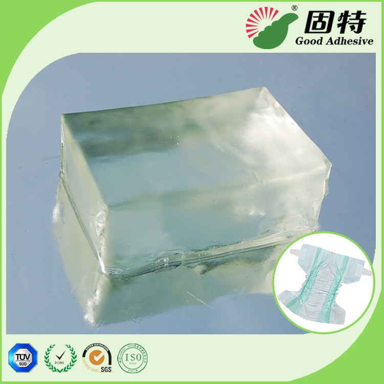 Light Transparent Block Baby Diaper Industrial PSA Hot Melt Adhesivenapkin, baby paper diaper and sanitary mat.