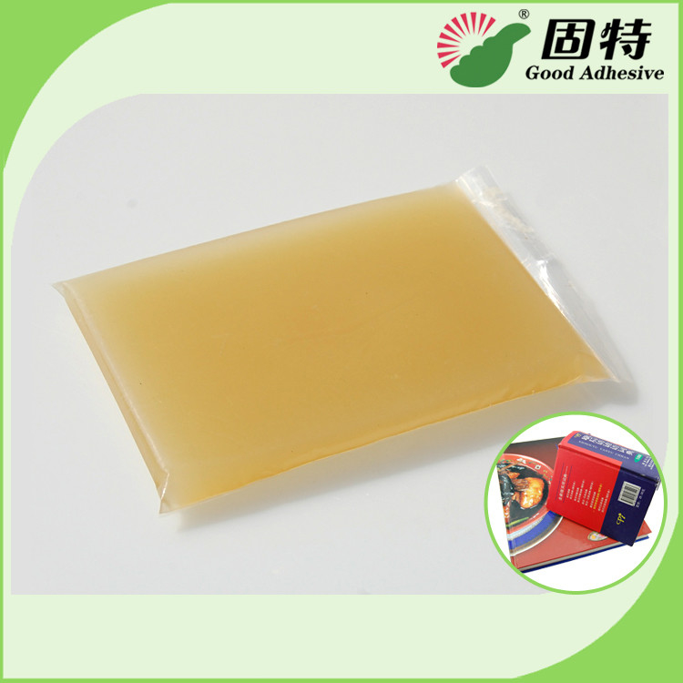 Hardcover Light Amber Solid Gums Hot Melt Animal Glue Semi-Automatic Case Maker Use Animal Glue