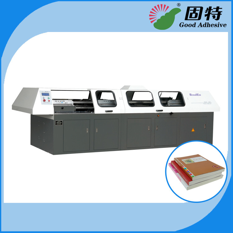 Hot Melt Automatic Bookbinding Machine , Perfect Binder Bookbinding Machine