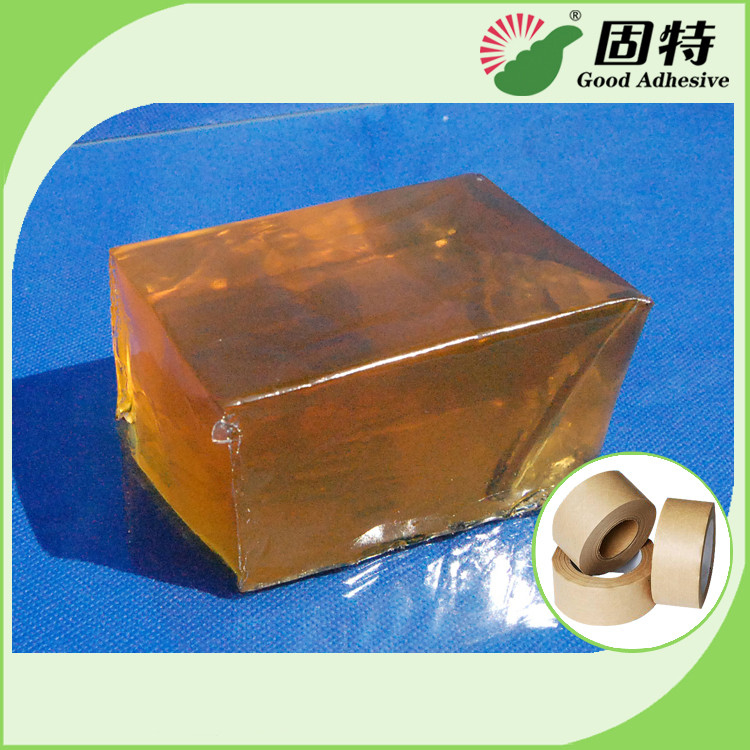 Yellow Transparent Block Hot Melt Glue Adhesive Pressure-Sensitive Melt Adhesive Kraft Paper Tape