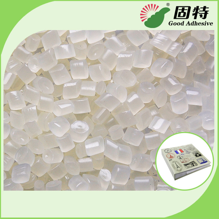 Light Yellow Granule EVA and Viscosity resin Side glue for Mainly used for papers fixation of round back album.