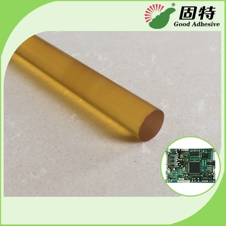 Yellow Color High Strength Hot Melt Glue Sticks , High Temp Hot Glue Gun Glue